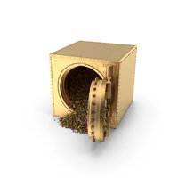 Golden Vault with Treasure PNG & PSD Images
