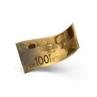 Golden 100 Israeli Shekel Banknote Bill PNG & PSD Images