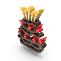 Birthday Chocolate Cake PNG & PSD Images