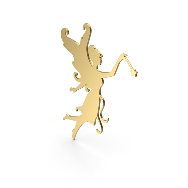 Golden Fairy Symbol Icon PNG & PSD Images