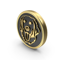 Dog Pet Care Breed Coin Symbol PNG & PSD Images