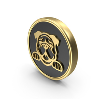 Dog Pet Care Breed Coin Symbol Logo PNG & PSD Images