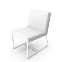 Chair In Leather And Chrome Steel PNG & PSD Images