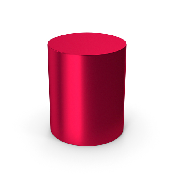Cylinder Red Metallic PNG & PSD Images
