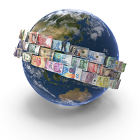 Money Around the World PNG & PSD Images