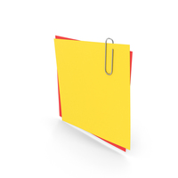 Colored Papers With Paper Clip PNG & PSD Images