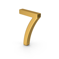 Number 7 Gold PNG & PSD Images