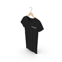 Female Crew Neck Hanging Black Delivery PNG & PSD Images