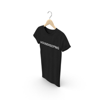 Female Crew Neck Hanging Black Housekeeping PNG & PSD Images