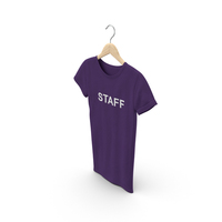 Female Crew Neck Hanging Purple Staff PNG & PSD Images