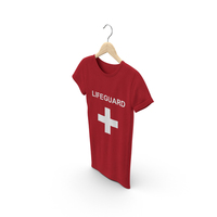 Female Crew Neck Hanging Red Lifeguard PNG & PSD Images