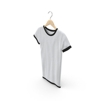 Female Crew Neck Hanging White and Black PNG & PSD Images