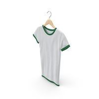 Female Crew Neck Hanging White and Green PNG & PSD Images