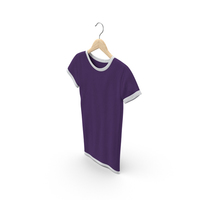 Female Crew Neck Hanging White and Purple PNG & PSD Images