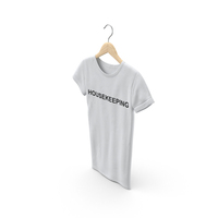 Female Crew Neck Hanging White Housekeeping PNG & PSD Images