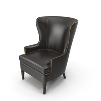 Crate and Barrel - Dylan Leather Chair PNG & PSD Images