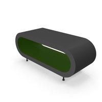 Coffee Table Gloss Green PNG & PSD Images