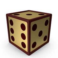 Golden Red Dice PNG & PSD Images