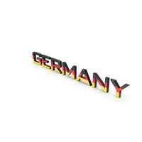Germany Text with Flag PNG & PSD Images