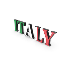 Italy Text with Flag PNG & PSD Images