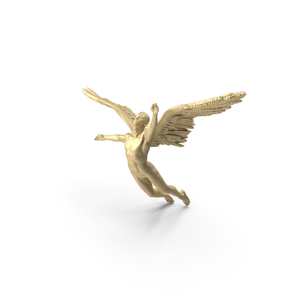 Angel - Male Figure - Gold PNG & PSD Images