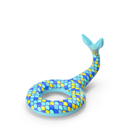 Blue and Yellow Giant Mermaid Tail Pool Float PNG & PSD Images