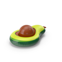 Green Avocado Pool Float with a Ball PNG & PSD Images