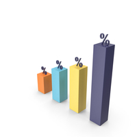 Percentage Graph PNG & PSD Images