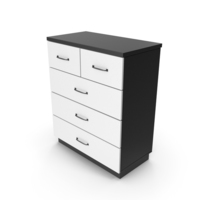Chiffonier Commode White Black PNG & PSD Images