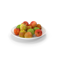 Apples With Porcelain Bowl PNG & PSD Images