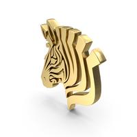 Golden Donkey Face Symbol PNG & PSD Images