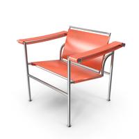 Le Corbusier LC1 Orange Chair PNG & PSD Images