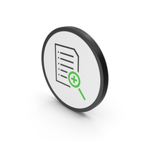 Icon Document File Zoom Green PNG & PSD Images