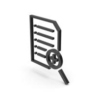 Symbol Document File Zoom Black PNG & PSD Images