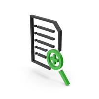 Symbol Document File Zoom Black Green PNG & PSD Images