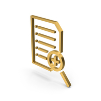 Symbol Document File Zoom Gold PNG & PSD Images
