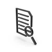 Symbol Document File Zoom Out Black PNG & PSD Images