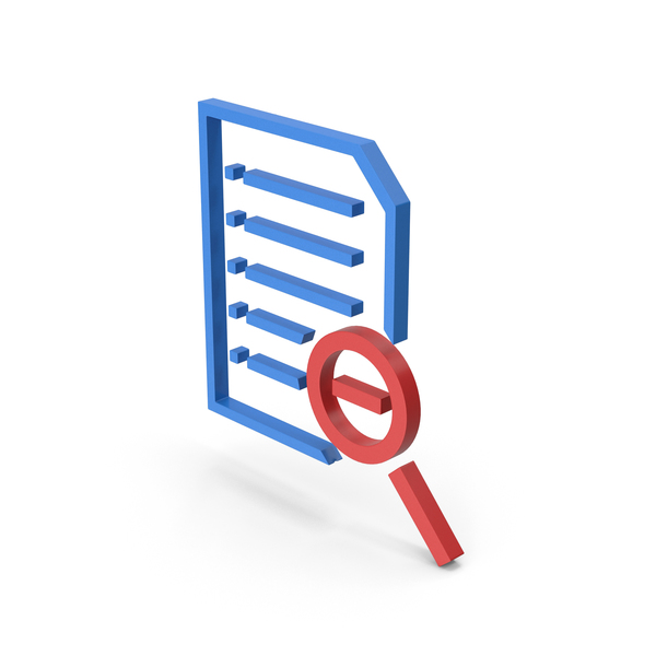 Document Zoom Out Symbol PNG & PSD Images
