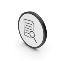 Icon Document With Magnifying Glass PNG & PSD Images