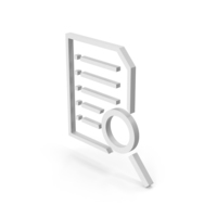 Symbol Document With Magnifying Glass PNG & PSD Images