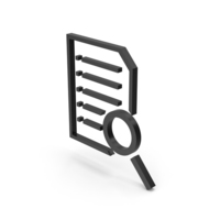 Symbol Document With Magnifying Glass Black PNG & PSD Images