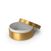 Ring Box Opened Gold PNG & PSD Images