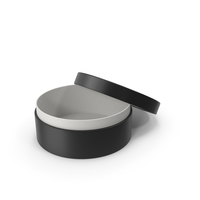 Ring Box Opened Black PNG & PSD Images
