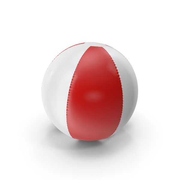Red and White Inflatable Beach Ball PNG & PSD Images