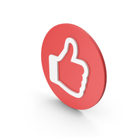 Like Symbol Red White PNG & PSD Images
