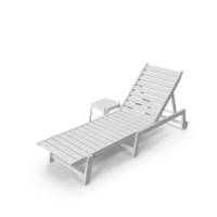 Sun Lounger White PNG & PSD Images