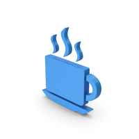 Coffee Cup Symbol Blue PNG & PSD Images