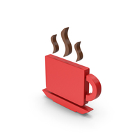 Coffee Cup Symbol Red PNG & PSD Images