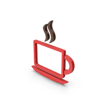 Symbol Coffee Cup Red PNG & PSD Images