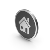 Silver Icon House PNG & PSD Images